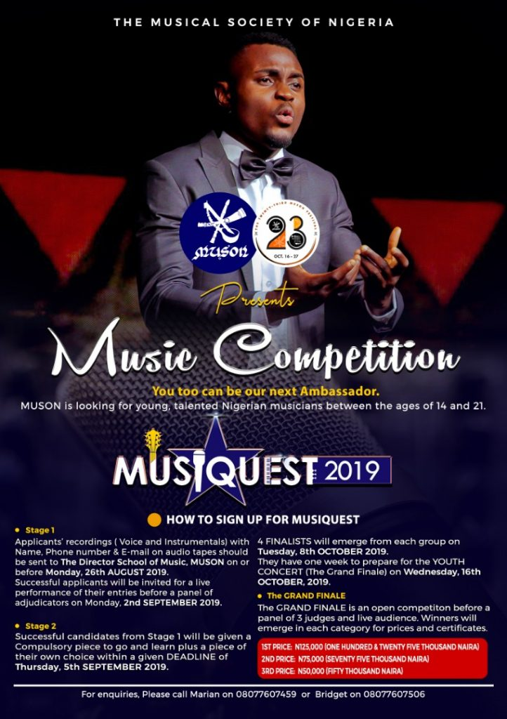 MUSON School of Music « The Musical Society of Nigeria